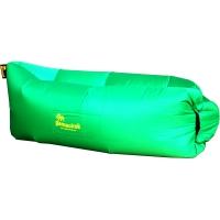 Шезлонг надувной Gamachok (240х75см), нейлон рип-стоп, зеленый