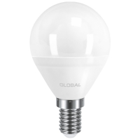Лампа светодиодная Global G45 F (5W, 4100K, 220V, E14) AP