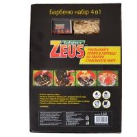 4 в 1 - Набор для барбекю Zeus (спички+разжигатель+древесный уголь+раздуватель), 1,5кг