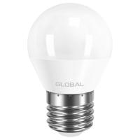 Лампа светодиодная Global G45 F (5W, 4100K, 220V, E27) AP