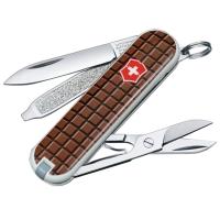 Нож складной, мультитул Victorinox Classic Chocolate (58мм, 7 функций), с чехлом, коричн 0.6223.842