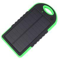 Power Bank c солнечной панелью и фонариком YD-T011 (5V, 5000mAh), зеленый