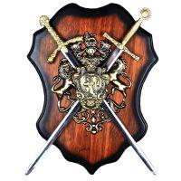 Панно сувенирное с двумя скрещеными мечами