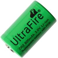 Аккумулятор литиевый Li-Ion CR2 UltraFire 3V (800mAh), незащищенный