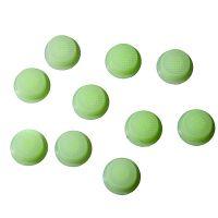 Cиликоновые кнопки для фонарей (14 x 6mm ), зеленые светящиеся в темноте
