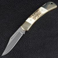 Нож TEKUT Predator LK5077A - рукоятка из оленьего рога (длина: 19.7cm, лезвие: 8.7cm)