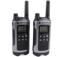 Рация Motorola TLKR T80 (0.5W, PMR446, 446 MHz, до 8 км, 8 каналов, 4xAAA), комплект 2шт, бело-серая