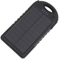 Power Bank c солнечной панелью и фонариком YD-T011 (5V, 5000mAh), чёрный