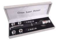 "Зеленая лазерная указка BOB Laser BGP-3010-5 (532nm, 50mW, 2xAAA) + 5 насадок ""Звездное небо"""