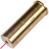 Лазерный патрон для холодной пристрелки (калибр: 12), латунь