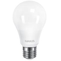 Лампа светодиодная Maxus A60 (10W, 4100K, 220V, E27)