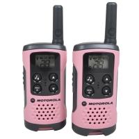 Рация Motorola TLKR T41 (0.5W, PMR446, 446 MHz, до 4 км, 8 каналов, 3xAAA), комплект 2шт., розовая