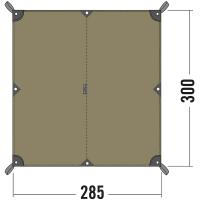 Тент Tatonka Tarp (2,85х3,00см), коричневый 2461.208