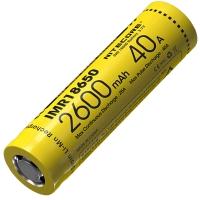Аккумулятор литиевый Li-Ion IMR 18650 Nitecore 3.7V (40А, 2600mAh)
