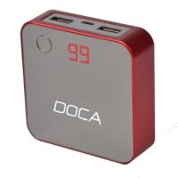 Внешнее зарядное устройство Power Bank DOCA D525 (8400mAh), красный