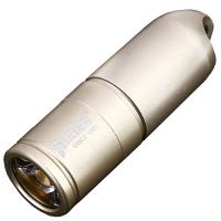 Фонарь Wuben G344  (Cree XP-G2, 130 люмен, 2 режима, USB) с цепочкой, золотой