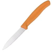 Нож бытовой, кухонный Victorinox SwissClassic с серрейт. лезвием (лезвие: 80мм), оранж. 6.7636.L119