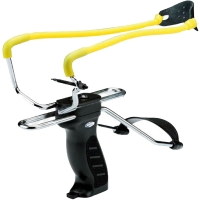 Slingshot with emphasis Man Kung SL06BK, black/yellow