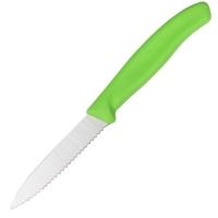 Нож бытовой, кухонный Victorinox SwissClassic с серрейт. лезвием (лезвие: 80мм), зеленый 6.7636.L114