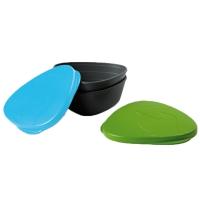 Набор посуды LIGHT MY FIRE SnapBoх (4 предмета), зеленый/голубой