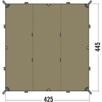 Тент Tatonka Tarp (4,25х4,45м), коричневый 2460.208