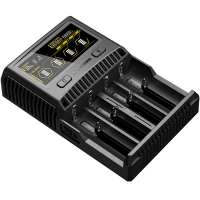 Зарядное устройство Nitecore SC4 с LED дисплеем (0.5A, 1A, 2A, 3A)