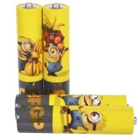 Батарейка щелочная Alkaaline AAA Ultra (24AUYOY, LR03, AUP) GP 1.5V (4шт, блистер), миньйон