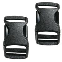 Застежка-фастекс для ремней Tatonka SR-Buckle Paar (25x55мм), черная, 2 шт. 3370.040