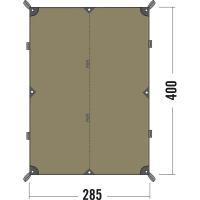 Тент Tatonka Tarp (2,85х4,00м), коричневый 2463.208