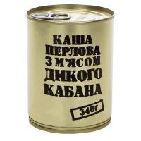 Тушенка из дикого кабана с перловой кашей, консерва (340г), ж/б