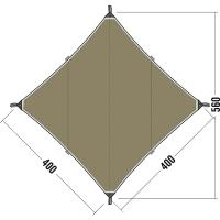 Тент Tatonka Tarp (396x396см), коричневый 2462.208