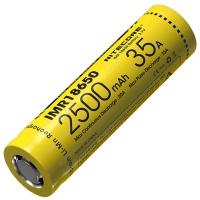 Аккумулятор литиевый Li-Ion IMR 18650 Nitecore 3.7V (35А, 2500mAh)
