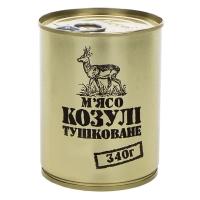 Тушенка из косули, консерва (340г), ж/б