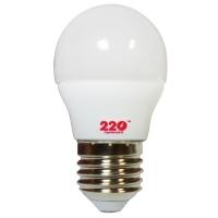 Лампа светодиодная 220ТМ G45 (5W, 220V, 4100К, E27)