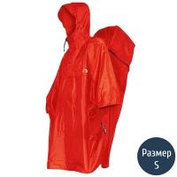 Дождевик-пончо с отделением для рюкзака Tatonka Cape Men (р.S), красный 2795.015