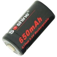 Аккумулятор литиевый Li-Ion CR123A / 16340 Soshine 3V (650mAh, 1.95Wh)