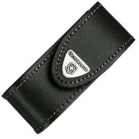 Чехол для ножей Victorinox (84-91мм, 2-4 слоя), кожаный, на липучке, с пов. клипом, черный 4.0520.31