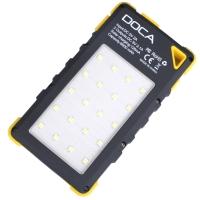 3 в 1 - Power Bank с солнечной панелью + фонарь + детектор валют DOCA D-S8000 (8000mAh), желтый