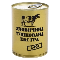Тушенка из говядины Экстра, консерва (340г), ж/б