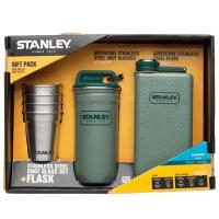 Набор Stanley Adventure (4 рюмки х 0,059л + футляр-фляга + фляга 0,236л), зеленый