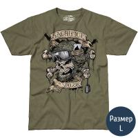 Футболка 7.62 Sacrifice & Valor Military (р.L), зеленая