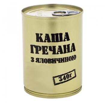 Тушенка из говядины с гречневой кашей, консерва (340г), ж/б ― Фонаревка