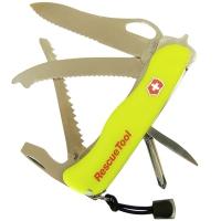 Нож складной, мультитул Victorinox RESCUETOOL One Hand (111мм, 16 функций), желтый 0.8623.MWN