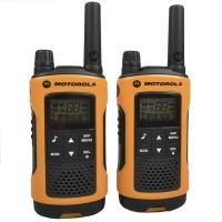 Рация Motorola TLKR T80 (0.5W, PMR446, 446 MHz, до 10 км, 8 каналов, 4xAAA), черно-оранжевая