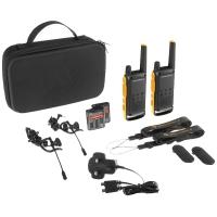 Рация Motorola Talkabout T82 Extreme (0.5W, UHF, 446 MHz, до 10 км, 16 каналов, АКБ), черная/красная