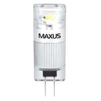 Лампа светодиодная Maxus G4 (1W, 3000K, 12V, AC/DC) CR