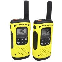Рация TLKR T92 H20 (0.5W, PMR446, 446 MHz, до 10 км, 8 каналов, 3хАА), комплект 2шт., черно-желтая