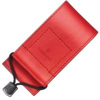 Чехол для ножей Victorinox (91-93мм, 5-8 слоев) на липучке, кож. зам., красный 4.0481.1