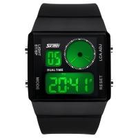 Часы Skmei Мод.0841, черные, в металлическом боксе
