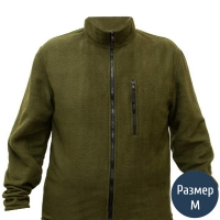 Кофта флисовая мужская, карман на молнии (р.46-48), олива